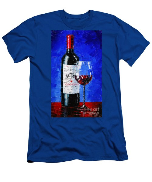 Still Life With Wine Bottle And Glass II Men's T-Shirt (Athletic Fit)