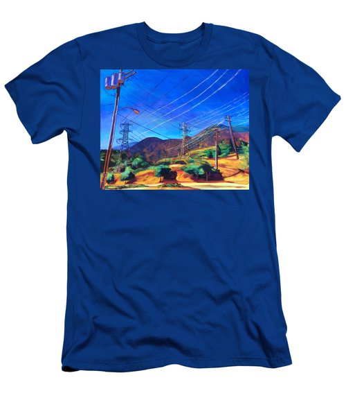 San Gabriel Power Men's T-Shirt (Slim Fit) by Bonnie Lambert