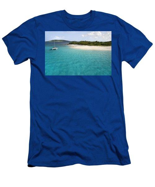 Sandy Cay Bvi Men's T-Shirt (Athletic Fit)