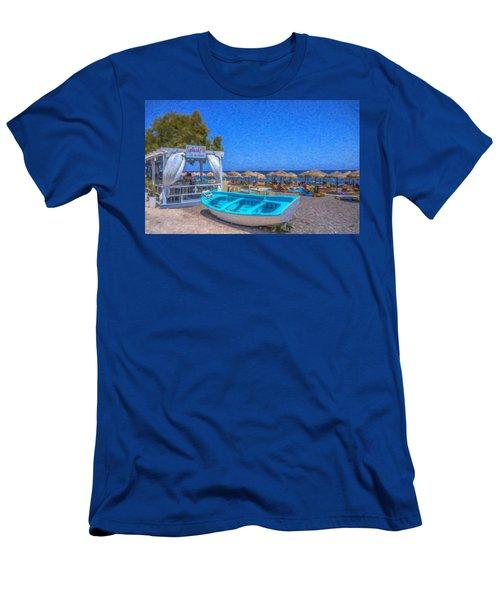 Santorini Beach Boat Grk4151 Men's T-Shirt (Athletic Fit)