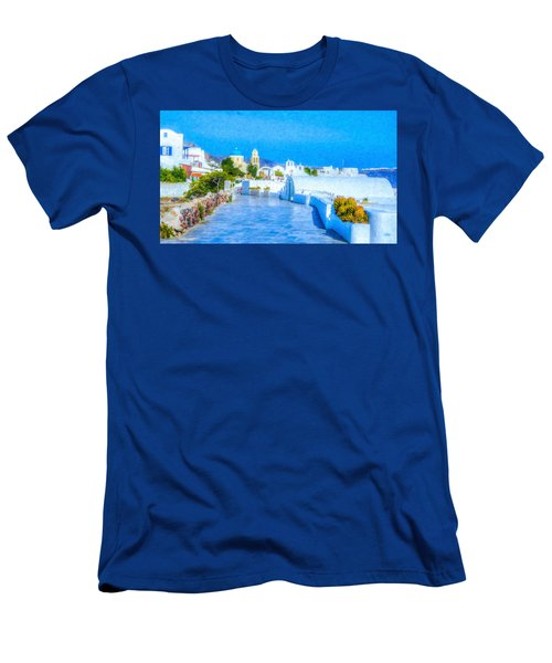 Santorini Grk4120 Men's T-Shirt (Athletic Fit)