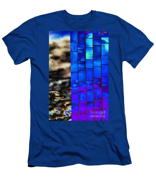 Men's T-Shirt (Slim Fit) featuring the photograph Sapphire Sunset by Christiane Hellner-OBrien