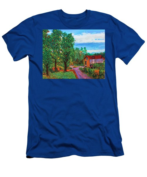Scene From Giverny Men's T-Shirt (Athletic Fit)