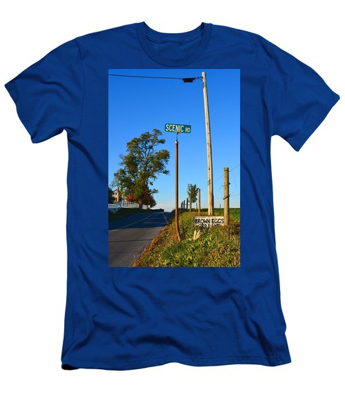 Scenic Road With Brown Eggs 3rd Lane Men's T-Shirt (Athletic Fit)