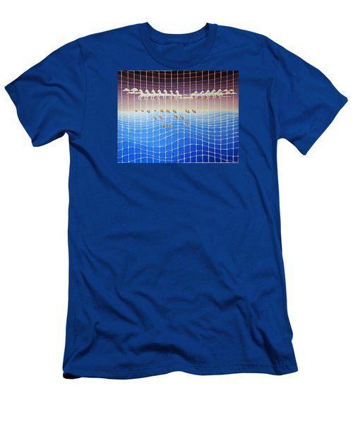 Schooner Race Horse Clouds Men's T-Shirt (Athletic Fit)