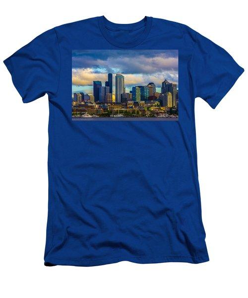 Seattle Cityscape Men's T-Shirt (Athletic Fit)