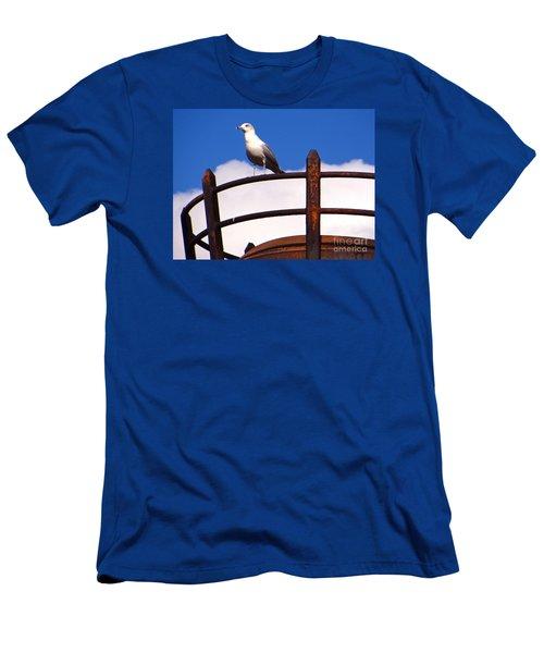 Sentinel Sea Gull Men's T-Shirt (Slim Fit) by Joy Hardee