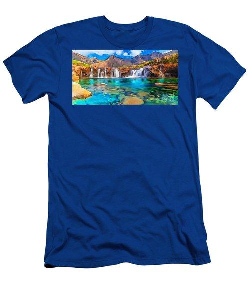 Serene Green Waters Men's T-Shirt (Slim Fit) by Catherine Lott