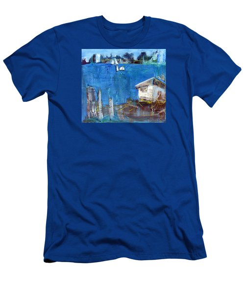 Shack On The Bay Men's T-Shirt (Athletic Fit)
