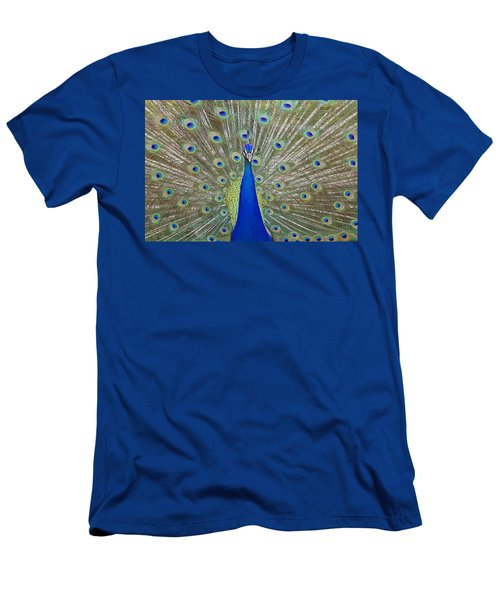 Men's T-Shirt (Slim Fit) featuring the pyrography Showing Off by Shoal Hollingsworth