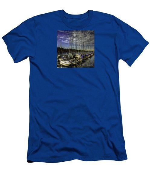 Men's T-Shirt (Slim Fit) featuring the photograph Side By Side by Jean OKeeffe Macro Abundance Art