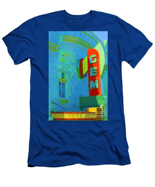 Sign - Gem Theater - Jazz District  Men's T-Shirt (Athletic Fit)