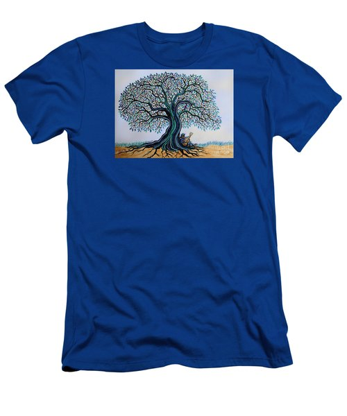 Singing Under The Blues Tree Men's T-Shirt (Slim Fit) by Nick Gustafson