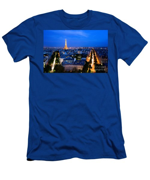 Skyline Of Paris Men's T-Shirt (Athletic Fit)