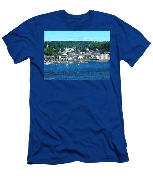 Small Coastal Town America Men's T-Shirt (Slim Fit) by Tara Potts