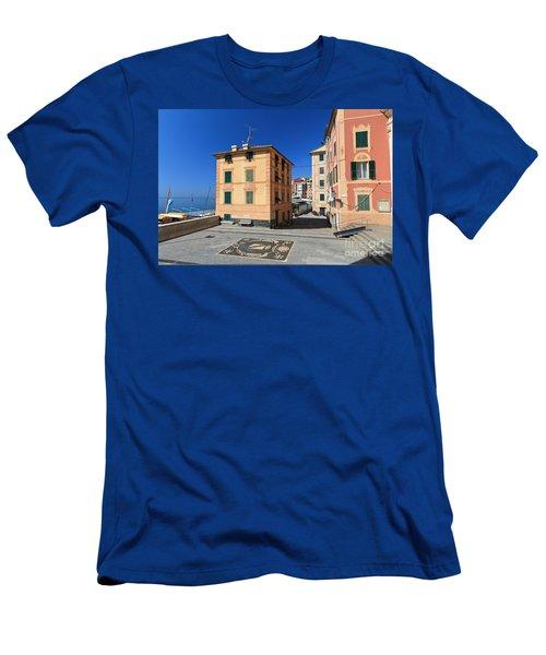 Men's T-Shirt (Slim Fit) featuring the photograph small square in Sori by Antonio Scarpi