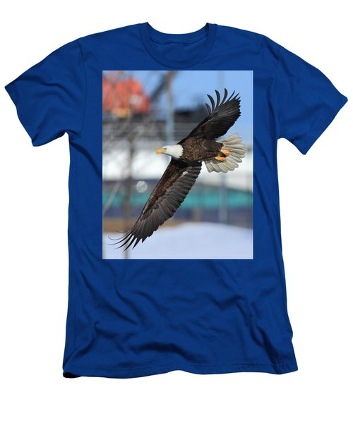 Men's T-Shirt (Slim Fit) featuring the photograph Soaring Eagle by Coby Cooper