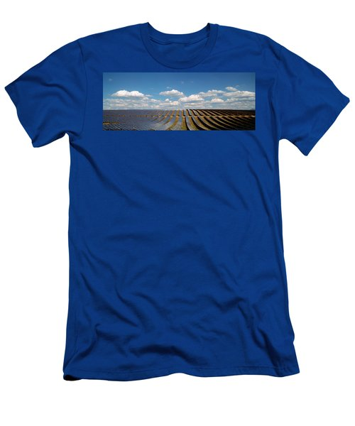 Solar Panels In A Field Men's T-Shirt (Athletic Fit)