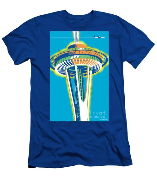 Space Needle Pop Art Men's T-Shirt (Athletic Fit)