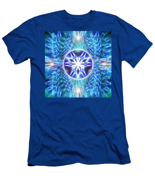 Men's T-Shirt (Slim Fit) featuring the drawing Spiral Compassion by Derek Gedney