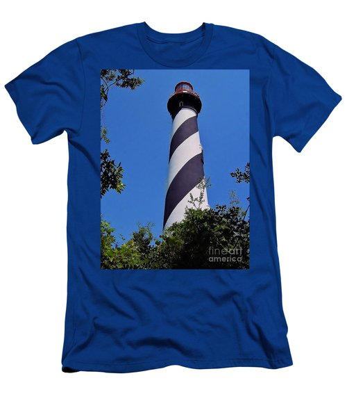 St Augustine Lighthouse Men's T-Shirt (Athletic Fit)