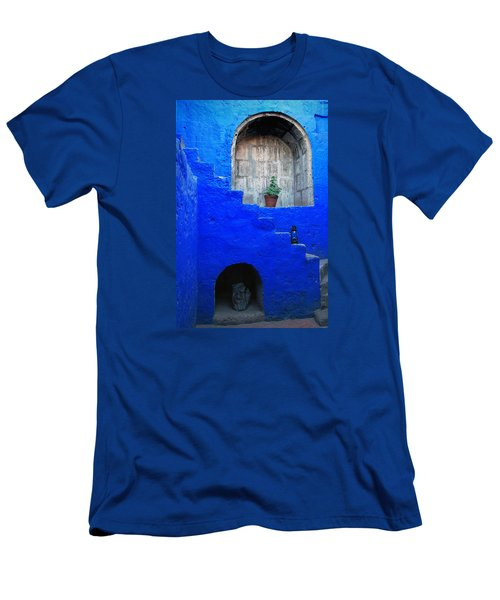 Staircase In Blue Courtyard Men's T-Shirt (Athletic Fit)