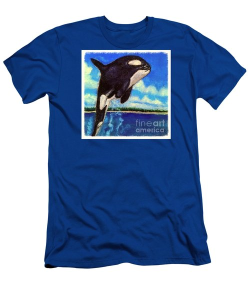 Men's T-Shirt (Slim Fit) featuring the painting Standing Above The Rest by Kimberlee Baxter