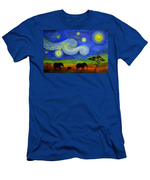 Starry Night Over Africa Men's T-Shirt (Athletic Fit)