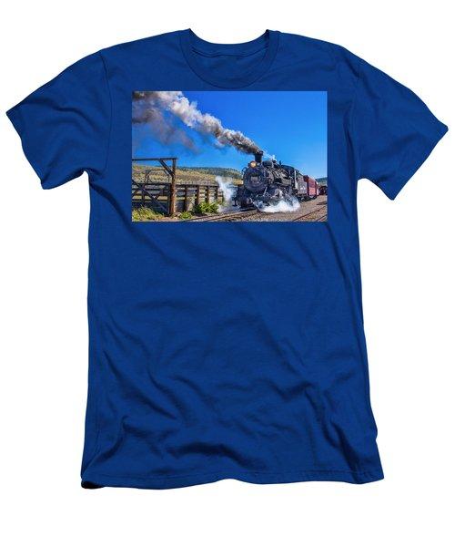 Steam Engine Relic Men's T-Shirt (Slim Fit) by Steven Bateson
