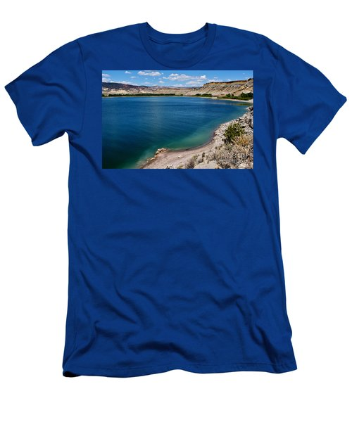 Men's T-Shirt (Slim Fit) featuring the photograph Steinacker Reservoir Utah by Janice Rae Pariza