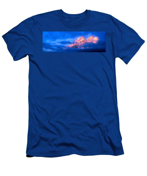 Storm Clouds Over Mountains, Cathedral Men's T-Shirt (Athletic Fit)