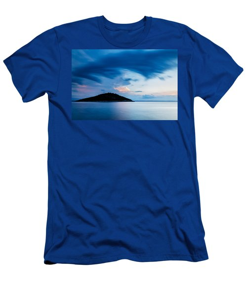 Storm Moving In Over Veli Osir Island At Sunrise Men's T-Shirt (Athletic Fit)
