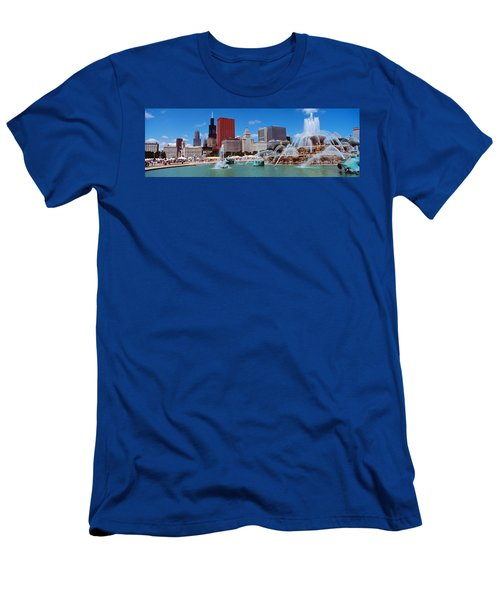 Summer, Chicago, Illinois, Usa Men's T-Shirt (Athletic Fit)