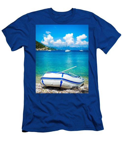 Summer Sailing In The Med Men's T-Shirt (Athletic Fit)