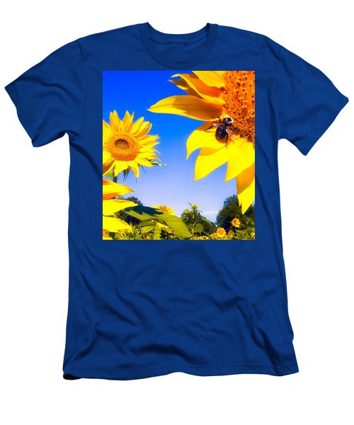 Summertime Sunflowers Men's T-Shirt (Athletic Fit)