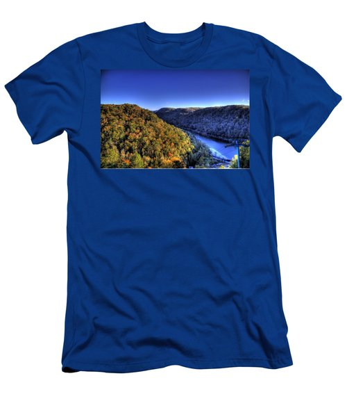 Sun Setting On Fall Hills Men's T-Shirt (Athletic Fit)