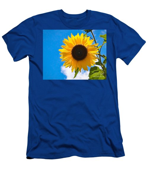 Sunflower And Bee At Work Men's T-Shirt (Athletic Fit)