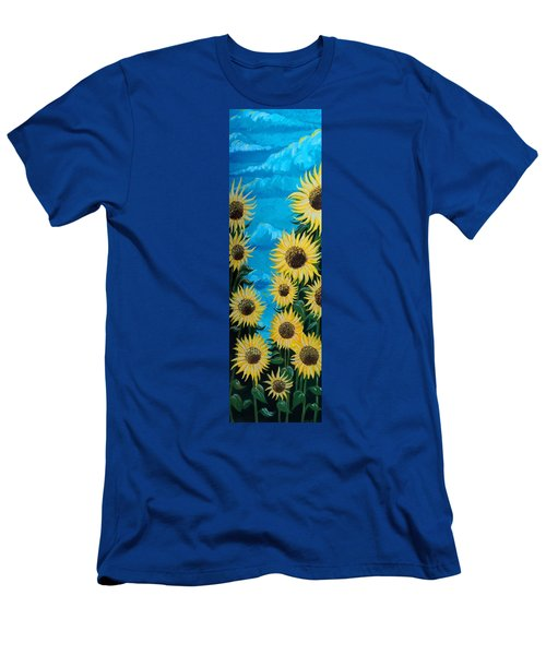 Sunflower Fun Men's T-Shirt (Athletic Fit)