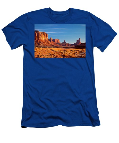 Men's T-Shirt (Athletic Fit) featuring the photograph Sunrise Over Monument Valley by Brian Jannsen