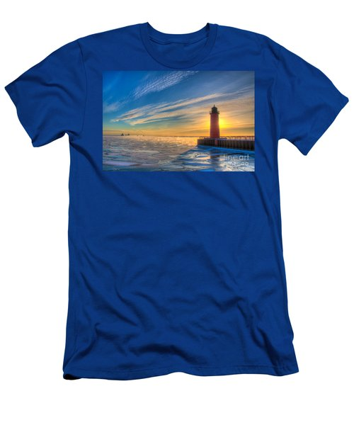 Sunrise Pierhead Men's T-Shirt (Athletic Fit)