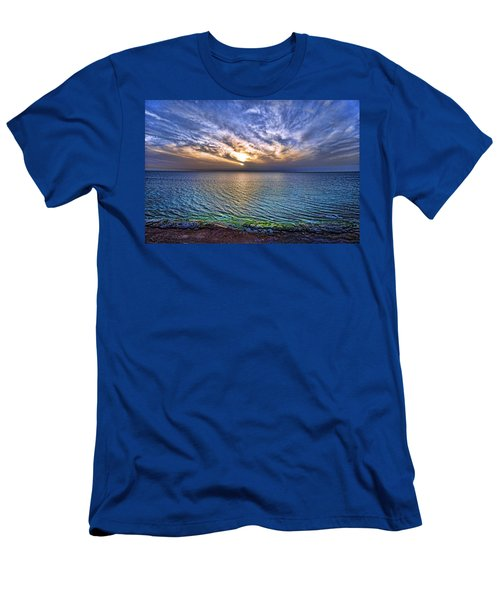 Sunset At The Cliff Beach Men's T-Shirt (Athletic Fit)