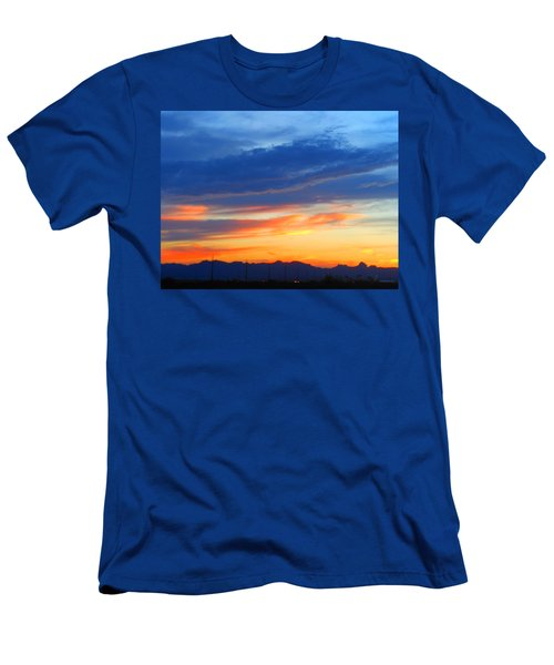 Sunset In The Black Mountains Men's T-Shirt (Athletic Fit)