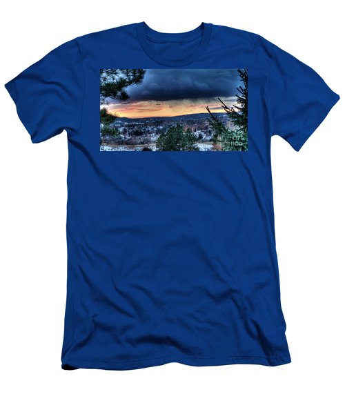 Sunset Over Hot Springs Men's T-Shirt (Athletic Fit)