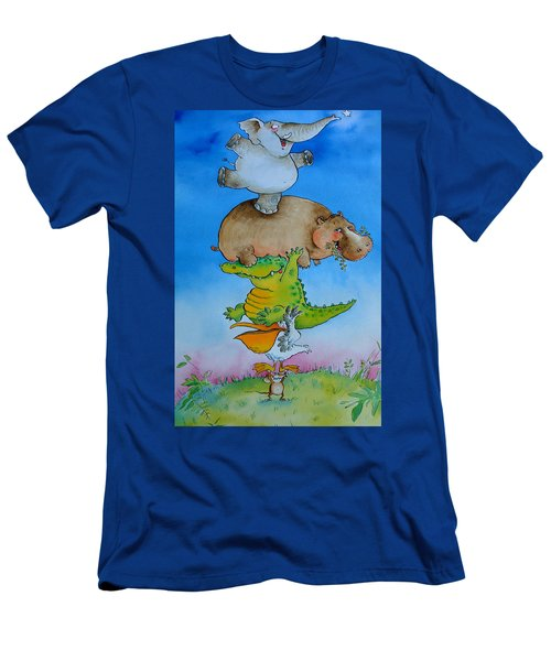 Super Mouse Pen & Ink And Wc On Paper Men's T-Shirt (Slim Fit) by Maylee Christie