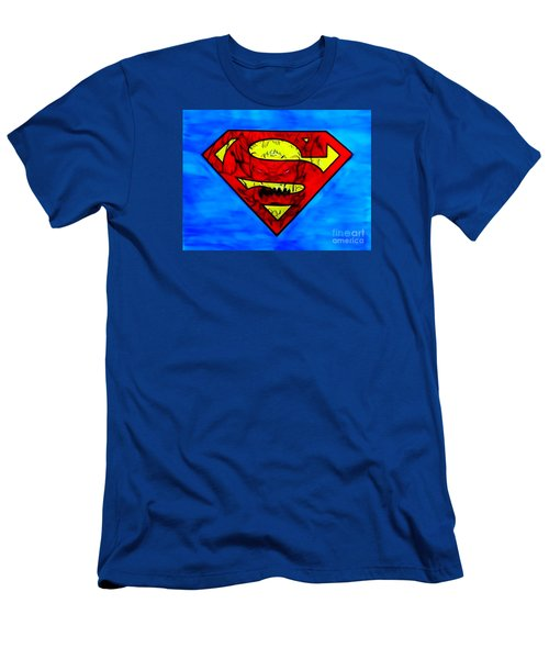 Men's T-Shirt (Slim Fit) featuring the drawing Superman And Doomsday R Y D by Justin Moore