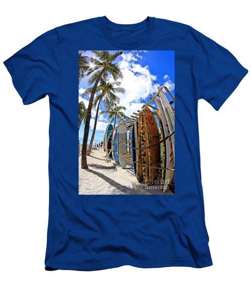 Surf And Sun Waikiki Men's T-Shirt (Athletic Fit)