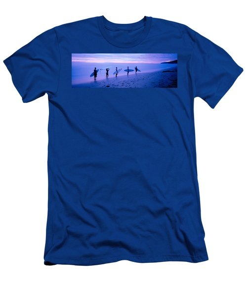 Surfers On Beach Costa Rica Men's T-Shirt (Athletic Fit)