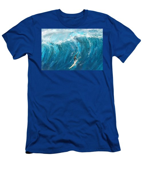 Surf's Up- Surfing Art Men's T-Shirt (Athletic Fit)