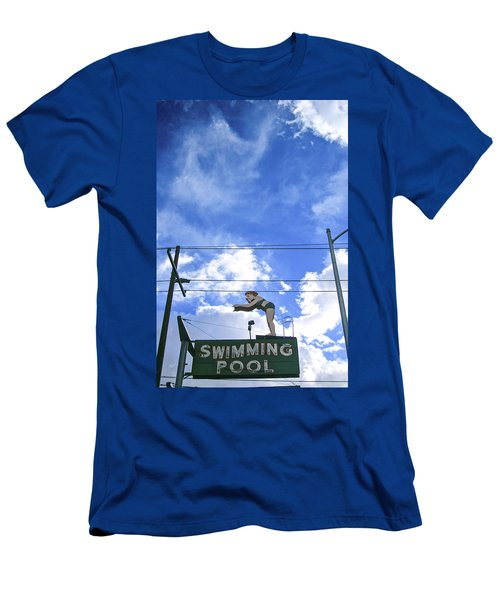 Swim Here Men's T-Shirt (Athletic Fit)
