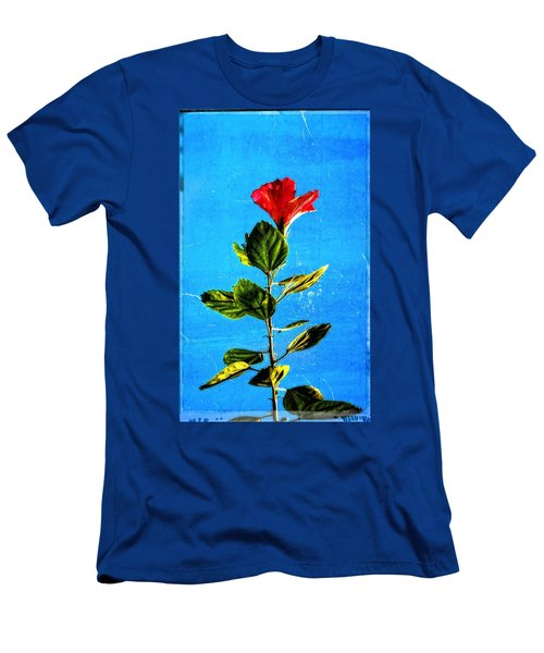 Tall Hibiscus - Flower Art By Sharon Cummings Men's T-Shirt (Athletic Fit)